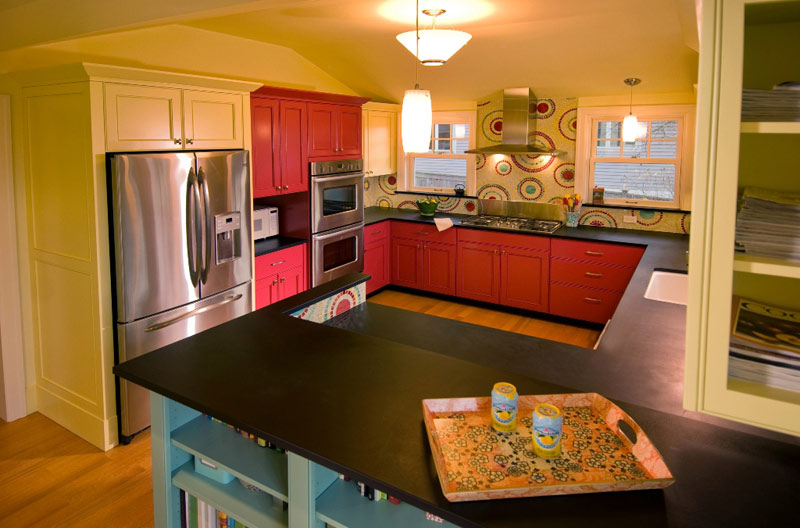 Paperstone countertops a fun and artful kitchen and home for What kind of paint to use on kitchen cabinets for affordable framed wall art