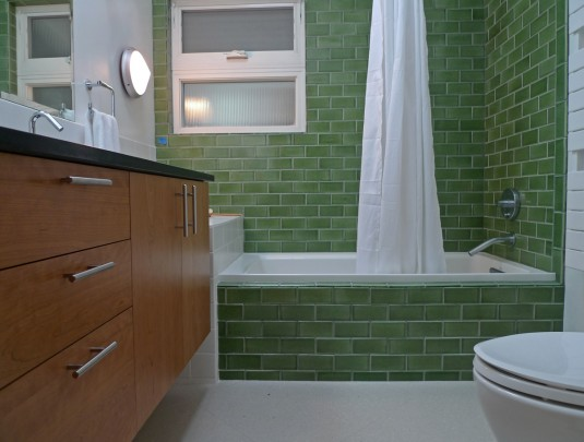 This bathroom renovation also includes multiple energy for 60 s bathroom ideas